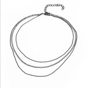 Battle of the Glitz- black necklace set